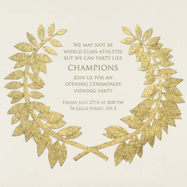 Gold Wreath - Paperless Post - Sports