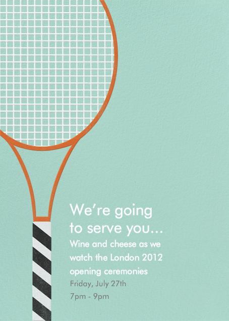 Tennis Racquet - Paperless Post - Sports