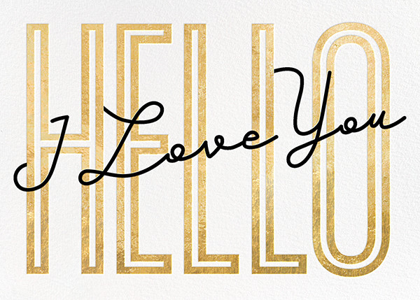 Won't You Tell Me Your Name? - Paperless Post - Valentine's Day