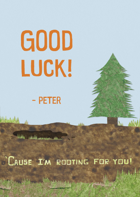 Wild Truffle - Paperless Post - Good luck - card back