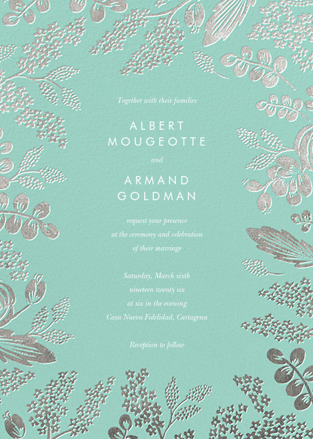 Heather and Lace (Invitation) - Celadon/Silver - Rifle Paper Co. - All