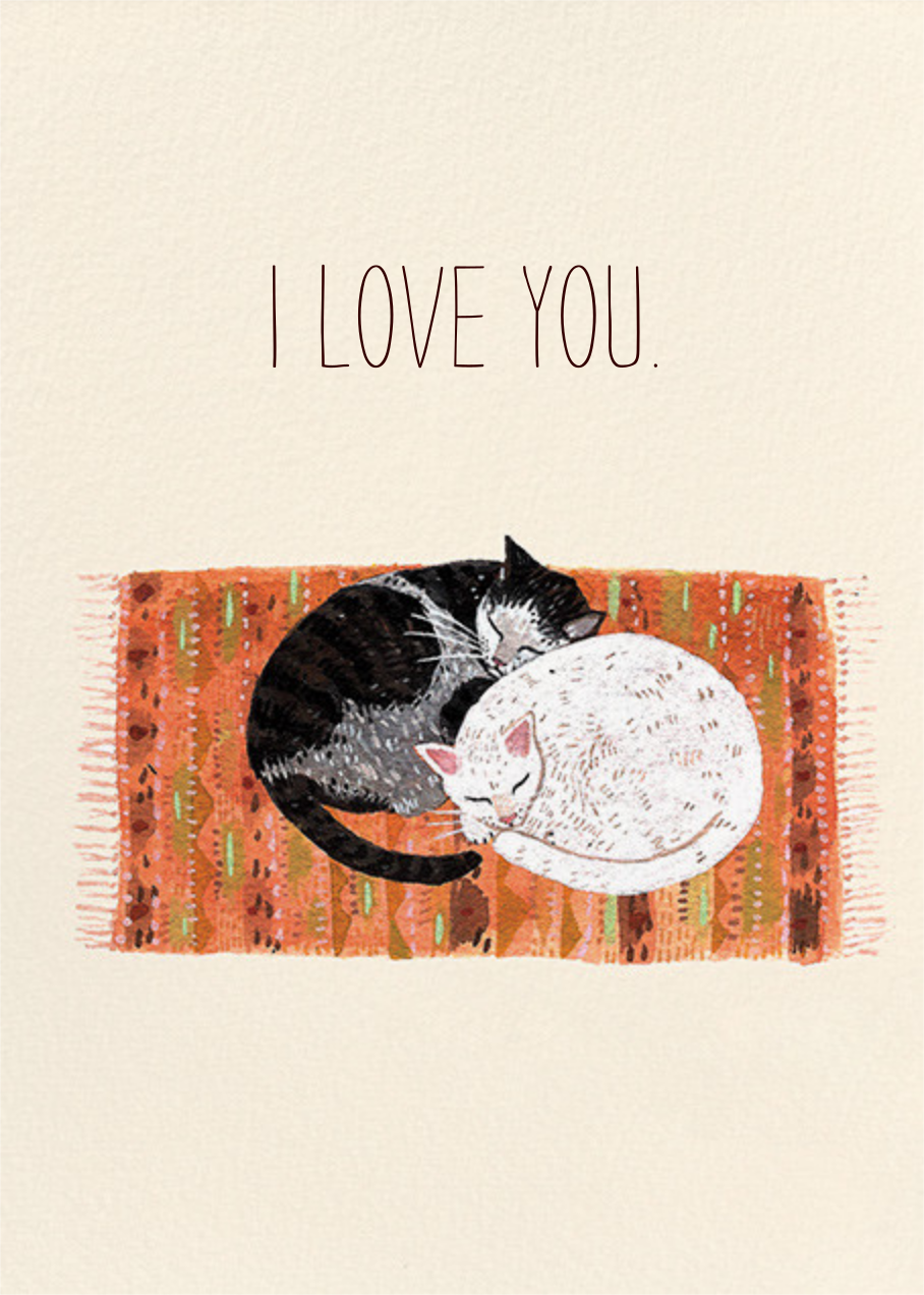 Cat Cuddle (Becca Stadtlander) - Red Cap Cards - Just because