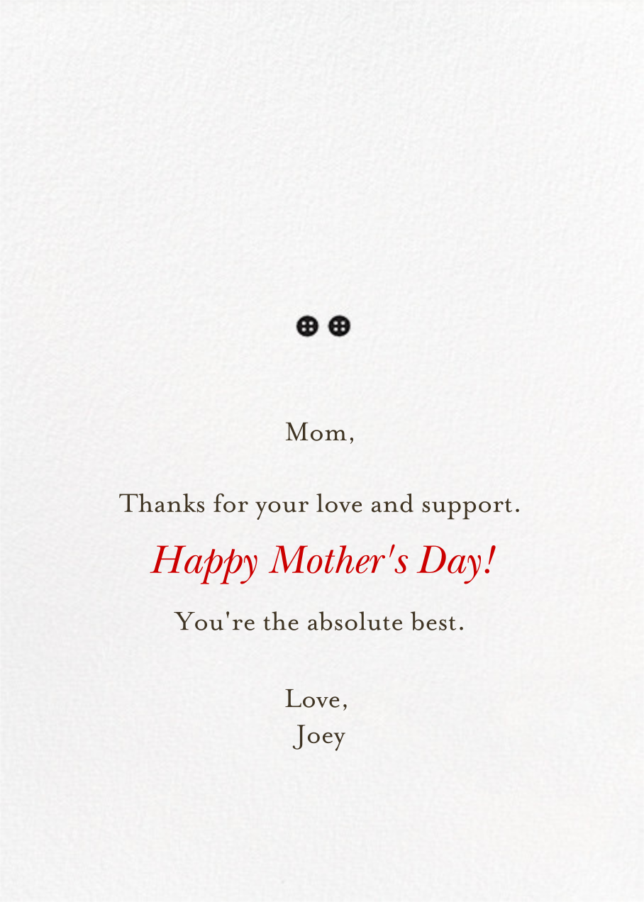 Mom and Me (Blanca Gomez) - Fair - Red Cap Cards - Back