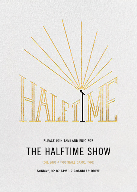 The Halftime Show - Paperless Post - Sports
