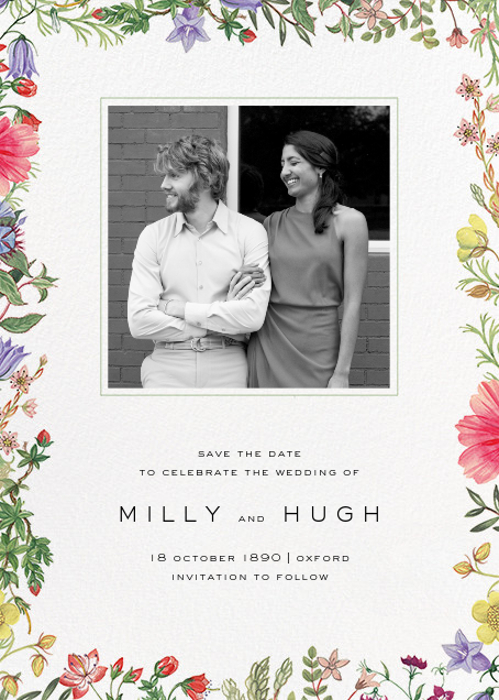 Archival Florals (Photo Save the Date) - Liberty - Save the date