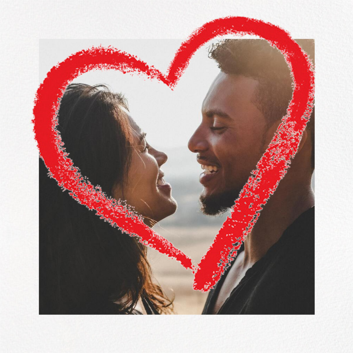 Lipstick Heart (Square) - Paperless Post - Valentine's Day
