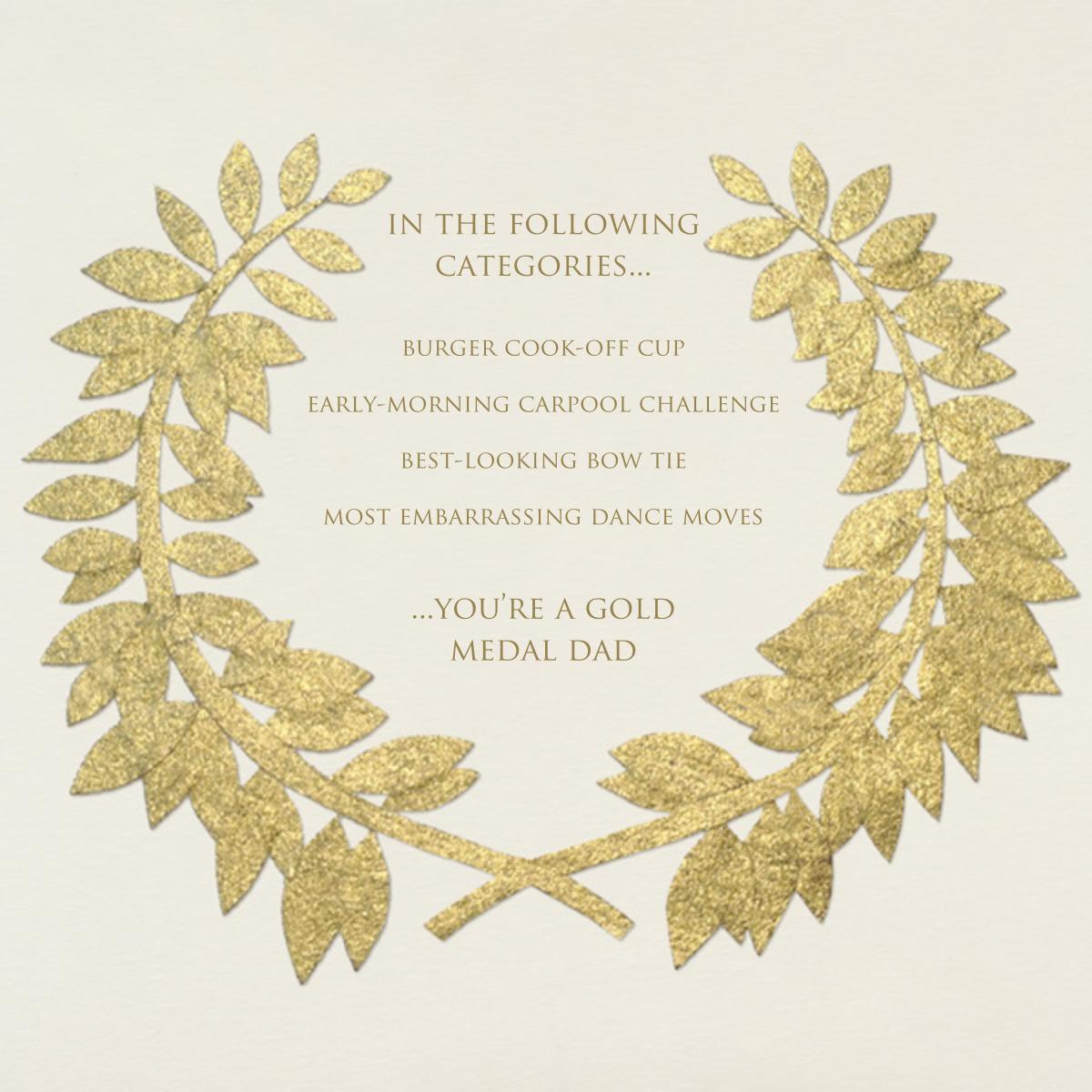 Gold Wreath - Paperless Post