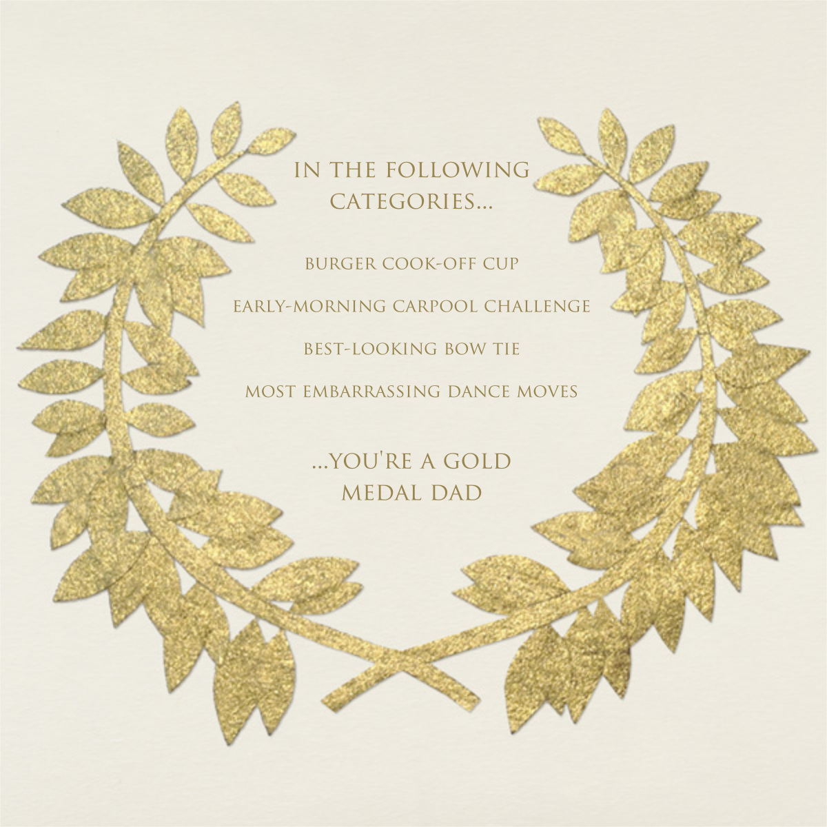 Gold Wreath - Paperless Post - Father's Day