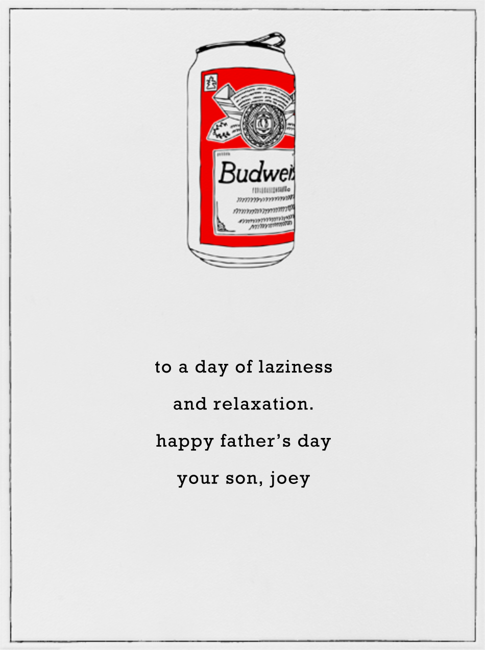 Bud Can - Paperless Post - Father's Day