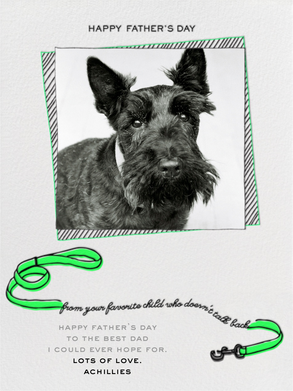 Father's Day Dog - Green - Paperless Post
