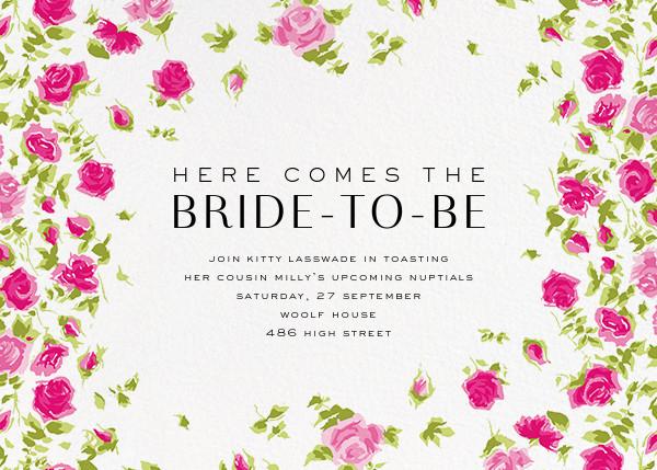 Ricardo's Bloom (Horizontal) - Pink - Liberty - Bridal shower
