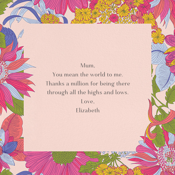 Angelica Garla (Greeting) - Liberty - Mother's Day - card back