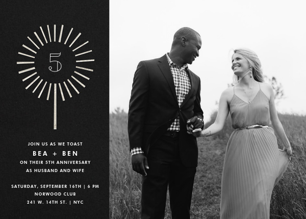 Year of the Sparkler (Photo) - Silver - Paperless Post - Anniversary party