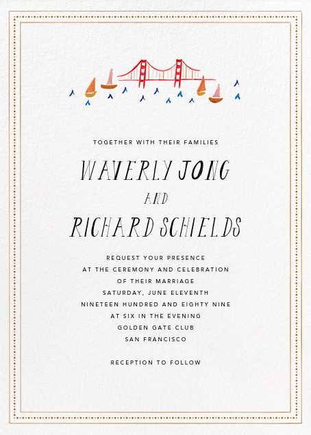 Miss Golden Gate (Invitation) - Mr. Boddington's Studio - All