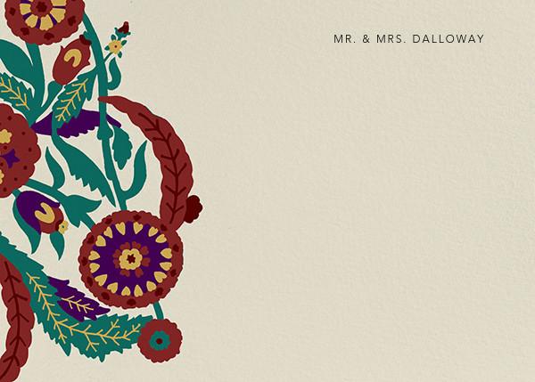 Spanish Garden (Stationery) - Merlot Olive - Oscar de la Renta - Personalized stationery