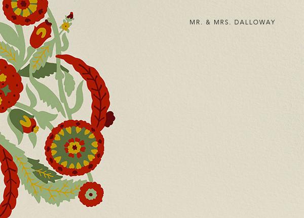 Spanish Garden (Stationery) - Red Plum - Oscar de la Renta - Personalized stationery