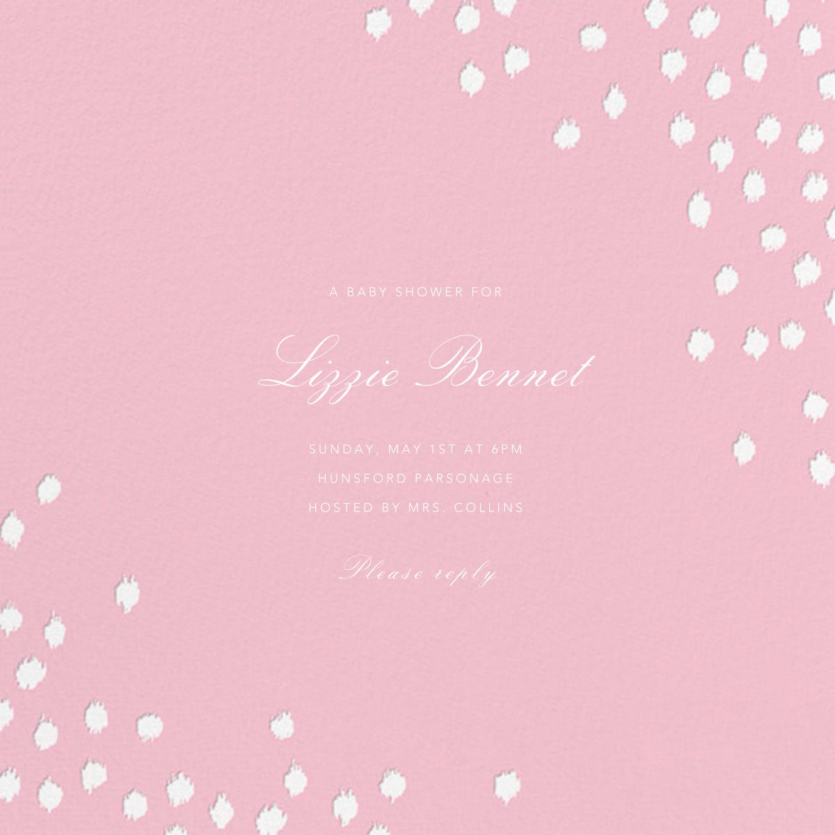 Ikat Dot (Square) - Light Pink - Oscar de la Renta