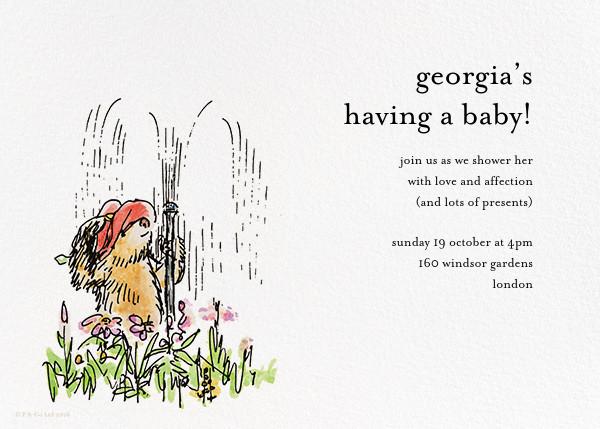 Garden Shower - Ivory - Paddington Bear - Woodland baby shower