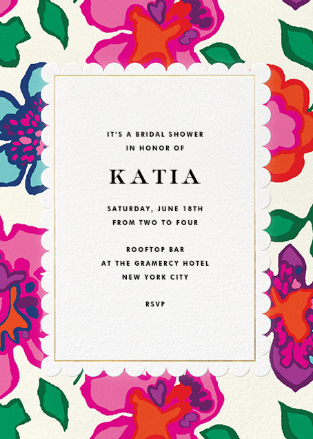 Floral Punch - kate spade new york - Printable invitations