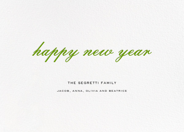 Confetti Branches (Horizontal Photo) - kate spade new york - New Year - card back