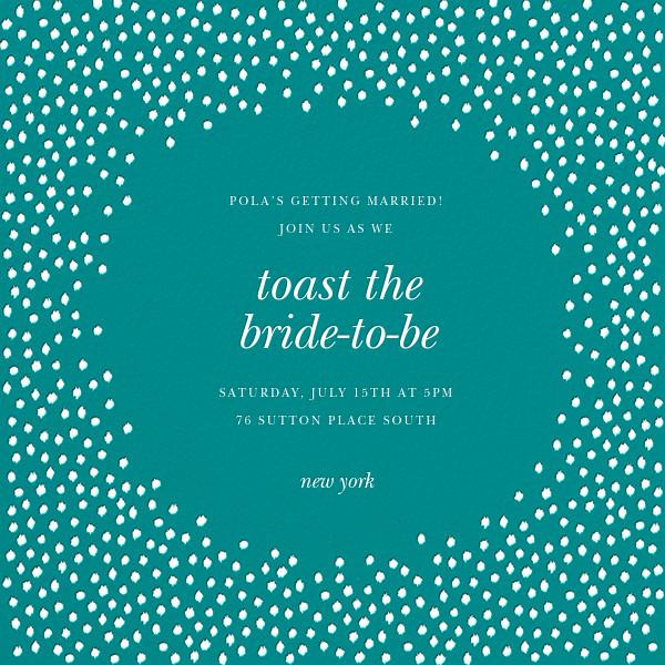Ikat Dot - Teal/Ivory - Oscar de la Renta - Bridal shower