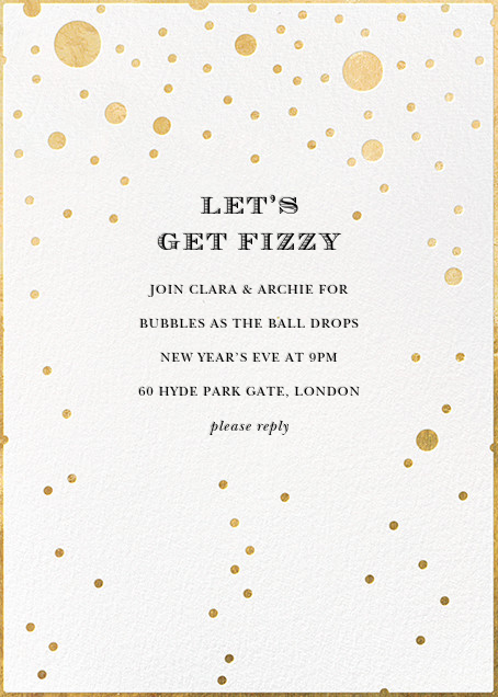 Champagne Bubbles (Single-Sided) - kate spade new york - Holiday party