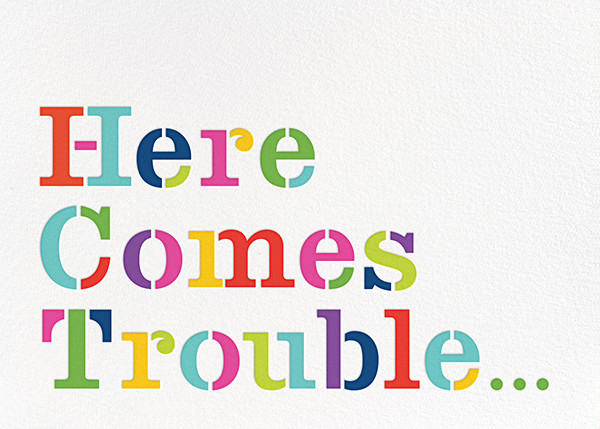 Here Comes Trouble - kate spade new york - Baby shower