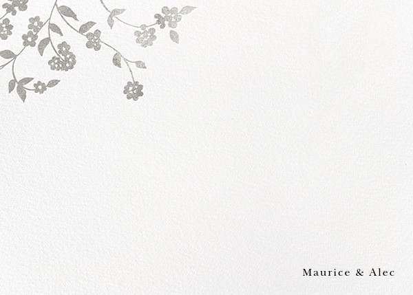Floral Trellis II (Stationery) - Silver - Oscar de la Renta - Personalized stationery