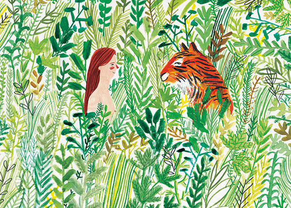 Tiger Meeting (Lizzy Stewart) - Red Cap Cards - Just because
