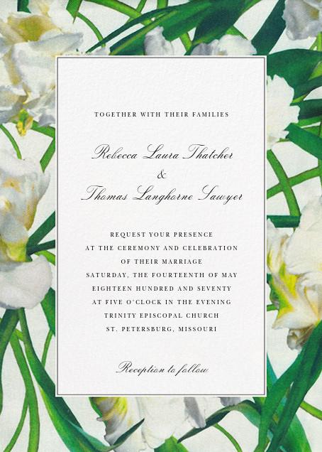 Parrot Tulip (Invitation) - Oscar de la Renta - Printable invitations