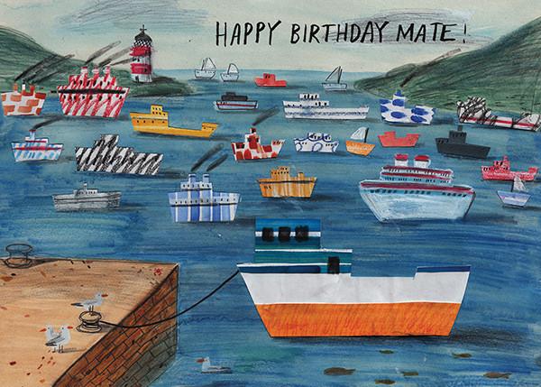 Birthday Mate (Lizzy Stewart) - Red Cap Cards - Birthday