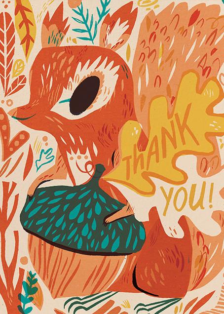 Squirrel Thanks (Meg Hunt) - Red Cap Cards