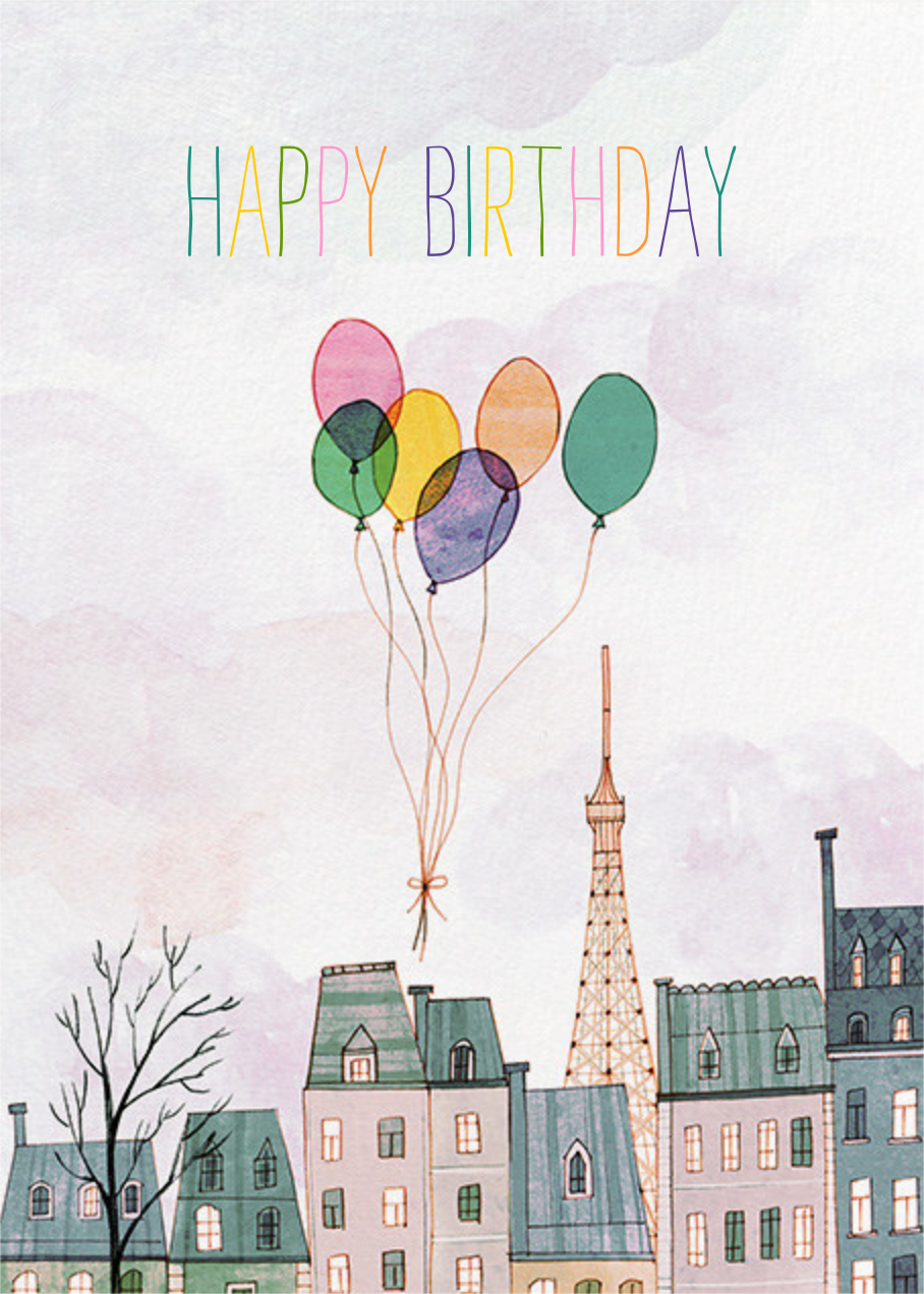 Paris Balloons (Josie Portillo) - Red Cap Cards - Designs we love