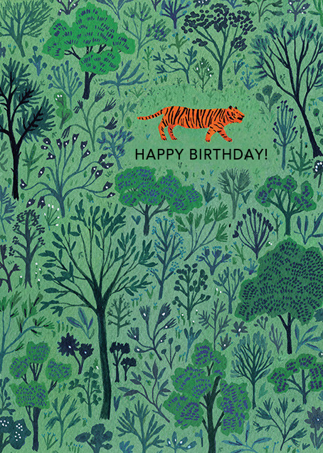 Orange Tiger (Becca Stadtlander) - Red Cap Cards - Birthday