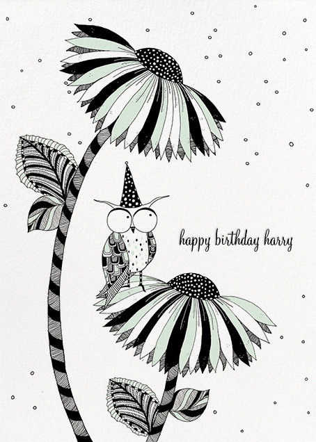 Owl Birthday (Carrie Gifford) - Red Cap Cards - Birthday