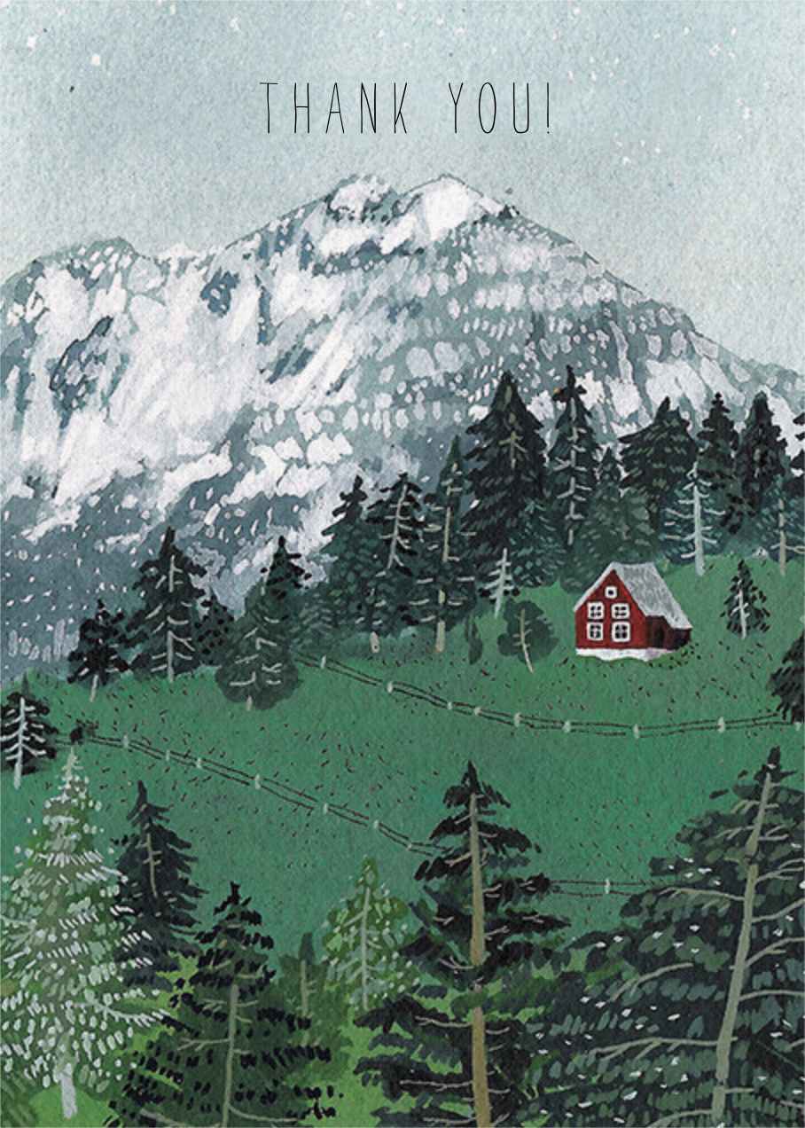 Red Cabin (Becca Stadtlander) - Red Cap Cards - Thank you
