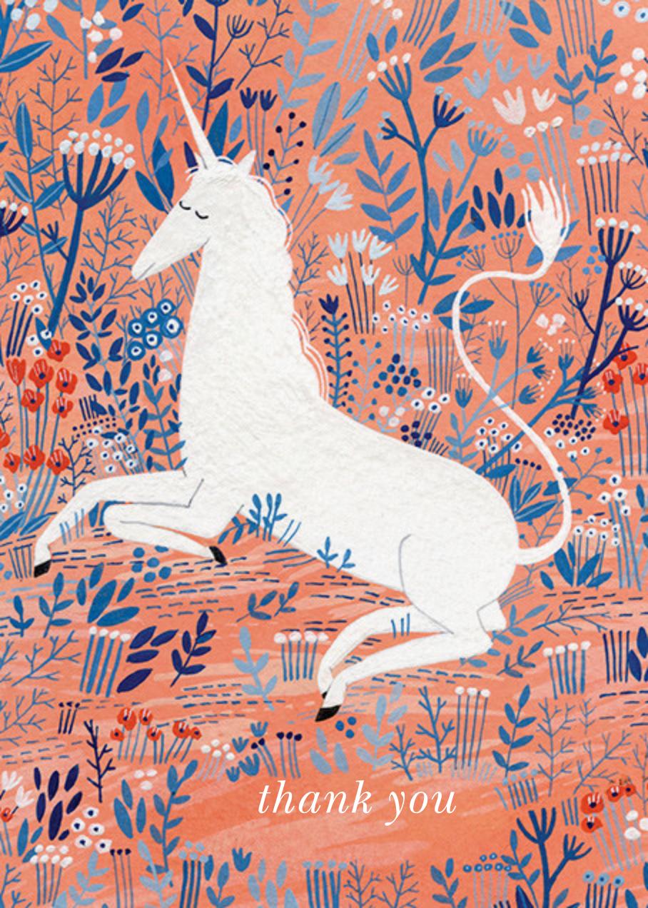 Unicorn (Yelena Bryksenkova) - Red Cap Cards - Thank you