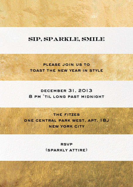 Evergreen Stripes - Gold/White - kate spade new york - Cocktail party