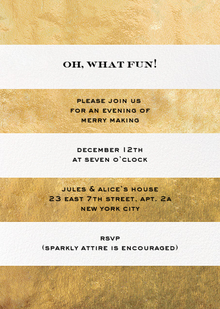 Evergreen Stripes - Gold/White - kate spade new york - Christmas party