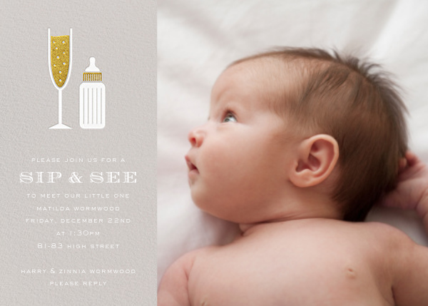 Sip & See (Photo) - Osyter - Paperless Post - Baby shower