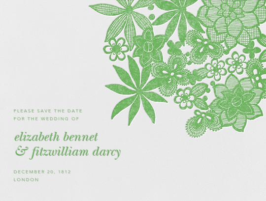 Floral Guipure (Save The Date) - Spring Green - Oscar de la Renta - null