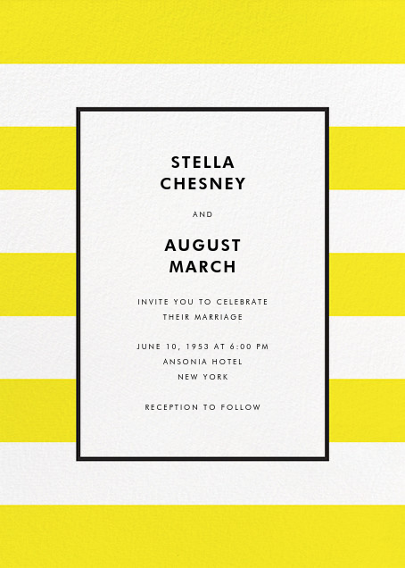 Stripe Suite (Invitation) - Yellow - kate spade new york - All