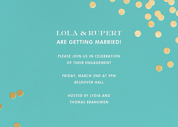 Confetti - Aqua/Gold - kate spade new york - Engagement party