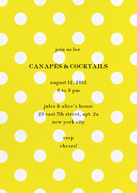 Evergreen Dots - Yellow - kate spade new york - Cocktail party