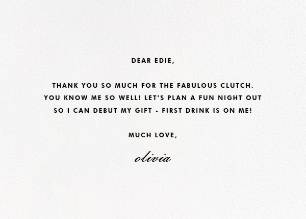 Merci - kate spade new york - Thank you - card back