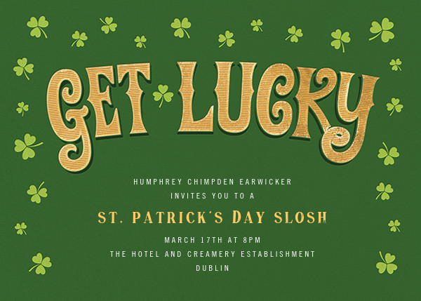 Shamrock with You - Paperless Post - St. Patrick's Day