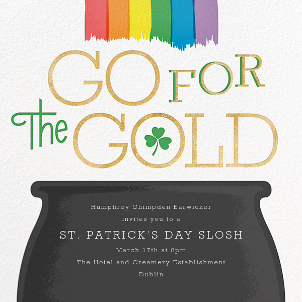 Pot of Gold - Paperless Post - St. Patrick's Day