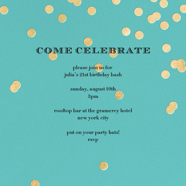 Come Celebrate - Aqua/Gold - kate spade new york - Adult birthday