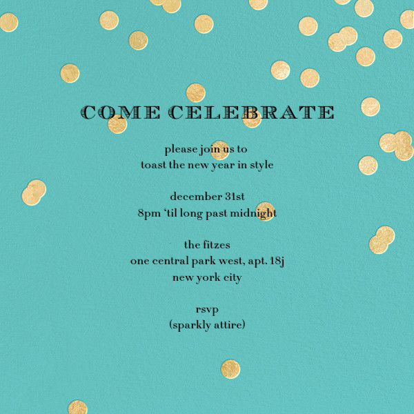Come Celebrate - Aqua/Gold - kate spade new york - Holiday party
