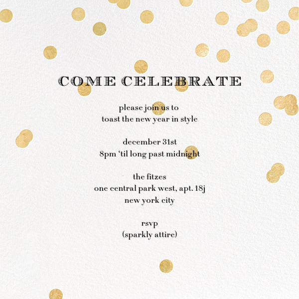 Come Celebrate - Ivory/Gold - kate spade new york - Christmas party